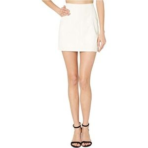 BNWT Free People Femme Faux Suede Snow Mini Skirt